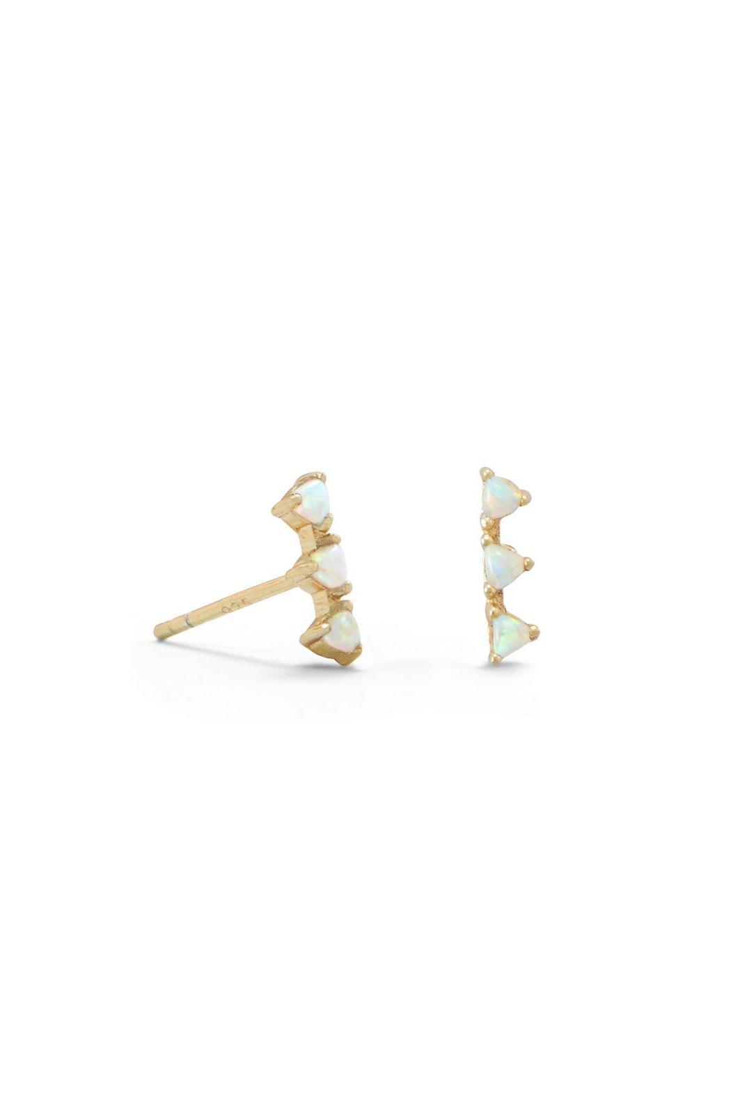 Wild Lilies Jewelry  Opal Bar Studs - Front Cropped Image