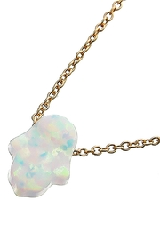 Wild Lilies Jewelry  Opal Hamsa Necklace - Product Mini Image