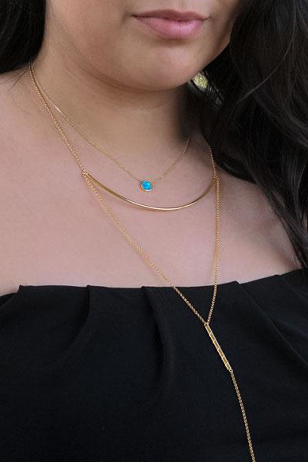 Wild Lilies Jewelry  Opal Pendant Necklace - Front Full Image