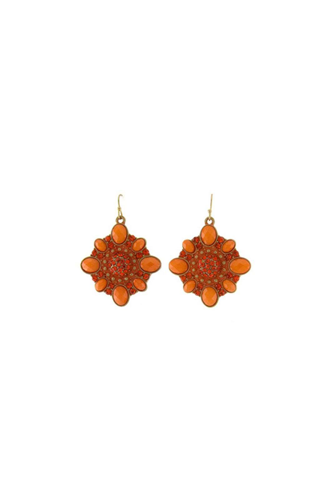 Wild Lilies Jewelry  Orange Drop Earrings - Main Image
