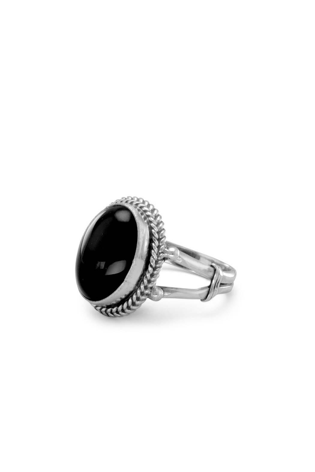 Wild Lilies Jewelry  Oval Onyx Ring - Main Image