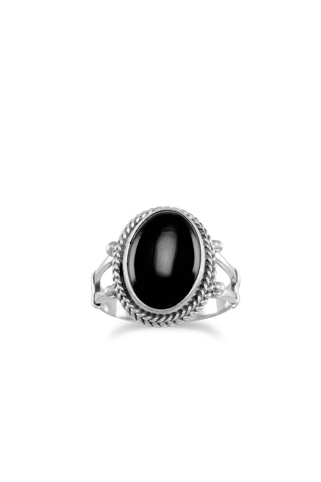 Wild Lilies Jewelry  Oval Onyx Ring - Front Cropped Image