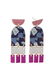 Wild Lilies Jewelry  Painted Fringe Earrings - Front cropped