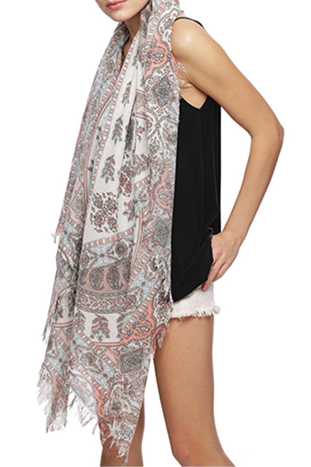 Wild Lilies Jewelry  Paisley Fringe Scarf - Side Cropped Image
