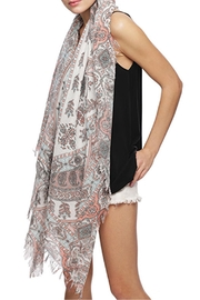 Wild Lilies Jewelry  Paisley Fringe Scarf - Side cropped
