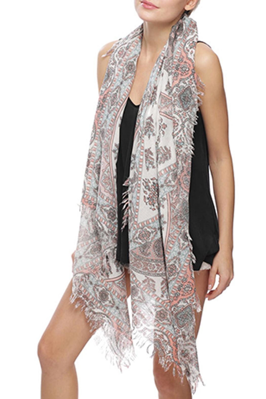 Wild Lilies Jewelry  Paisley Fringe Scarf - Front Full Image