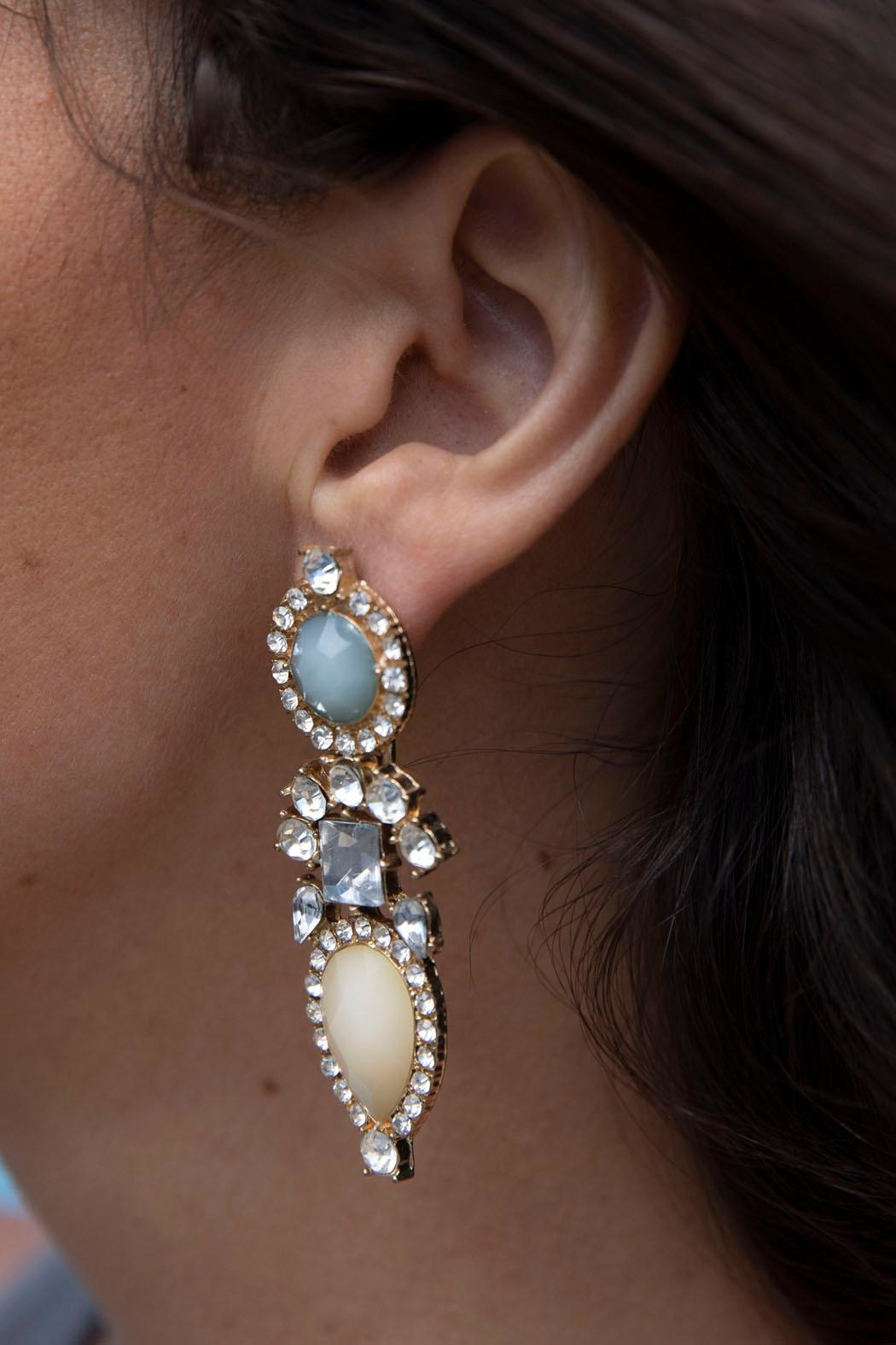 Wild Lilies Jewelry  Pastel Statement Earrings - Front Full Image