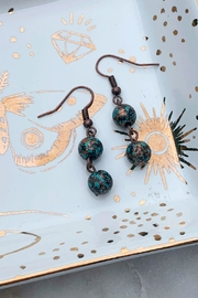 Wild Lilies Jewelry  Patina Beaded Earrings - Front cropped