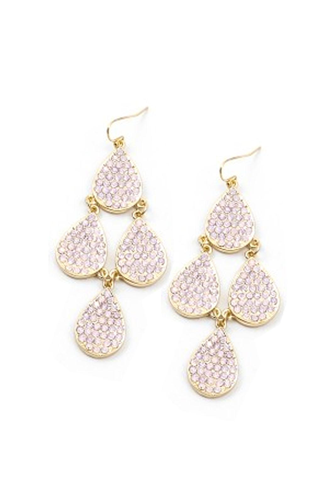 Wild Lilies Jewelry  Pave Chandelier Earrings - Front Cropped Image