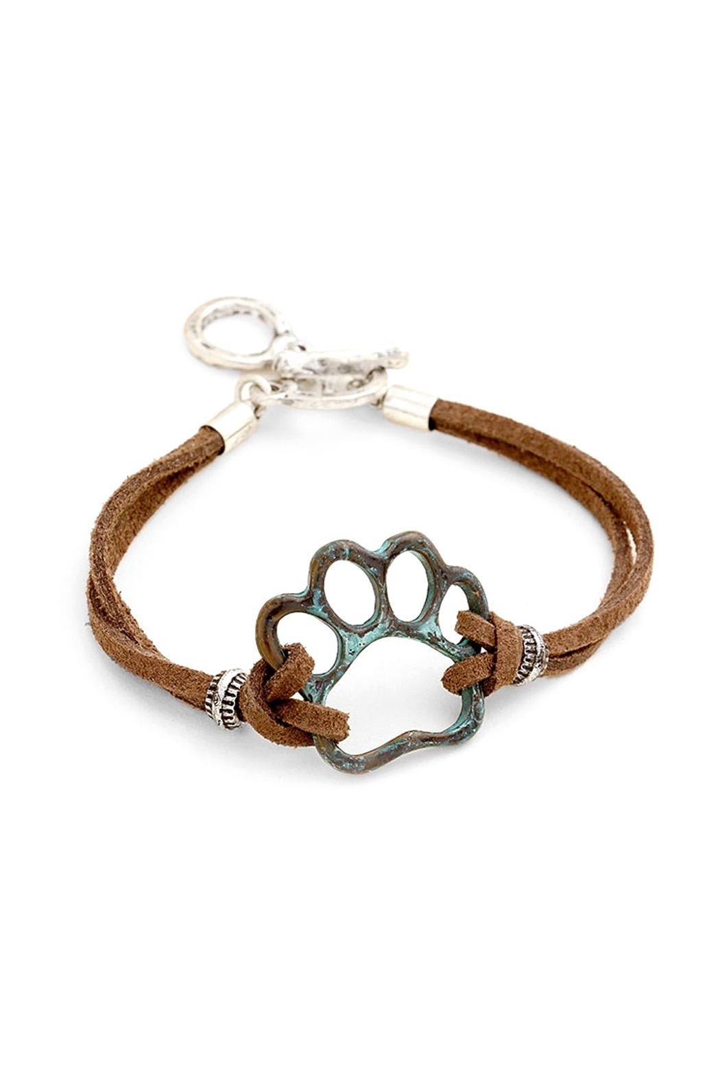 Wild Lilies Jewelry  Paw Print Bracelet - Front Cropped Image