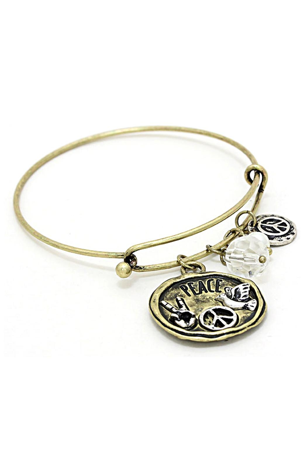 Wild Lilies Jewelry  Peace Charm Bracelet - Front Cropped Image
