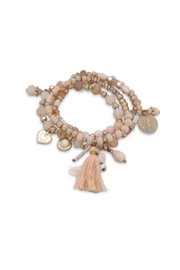 Wild Lilies Jewelry  Peach Charm Bracelet - Product Mini Image