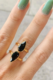 Wild Lilies Jewelry  Pear Onyx Ring - Product Mini Image