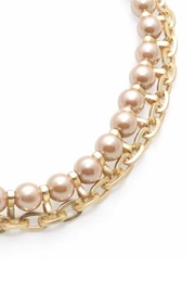 Wild Lilies Jewelry  Pearl Chain Necklace - Front full body