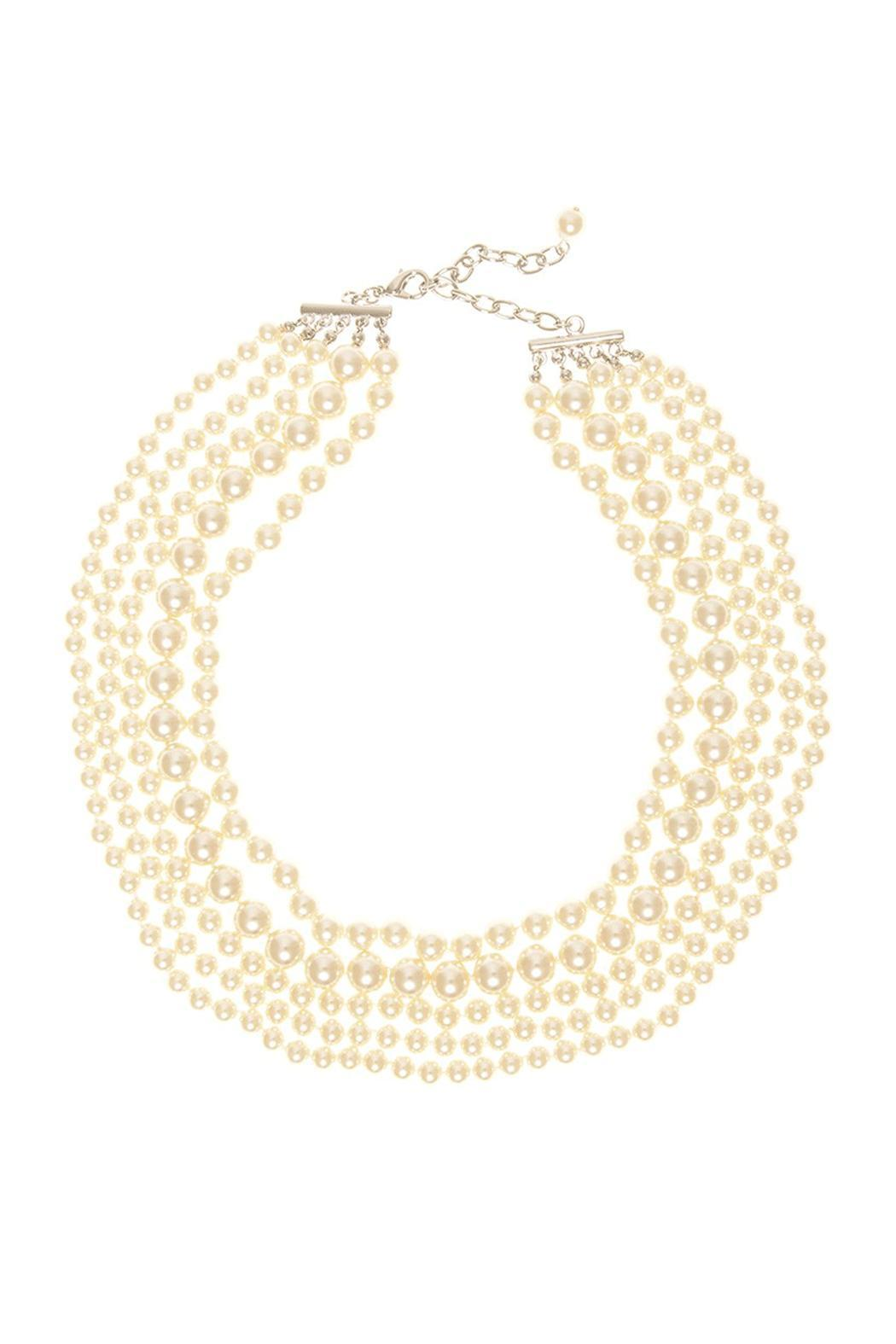Wild Lilies Jewelry  Pearl Collar Necklace - Main Image