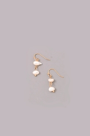 Wild Lilies Jewelry  Pearl Drop Earrings - Front cropped
