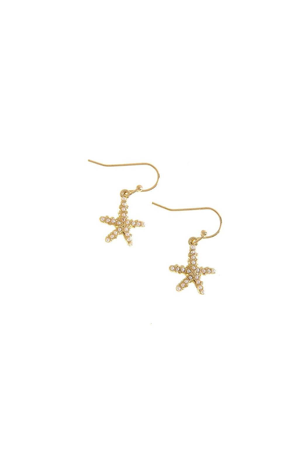 Wild Lilies Jewelry  Pearl Starfish Earrings - Main Image