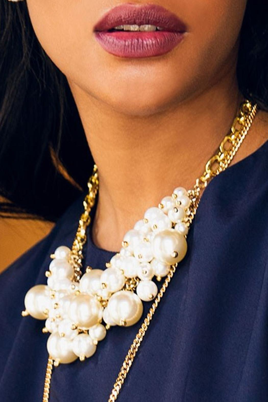 Wild Lilies Jewelry  Pearl Statement Necklace - Main Image