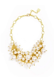 Wild Lilies Jewelry  Pearl Statement Necklace - Front full body