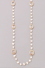 Wild Lilies Jewelry  Pearl Station Necklace - Front full body