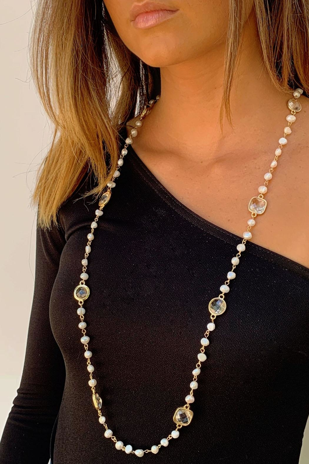 Wild Lilies Jewelry  Pearl Station Necklace - Main Image