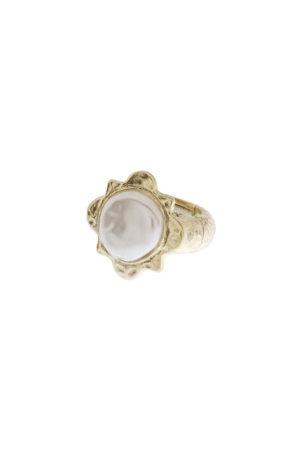 Wild Lilies Jewelry  Pearl Sunburst Ring - Front Full Image