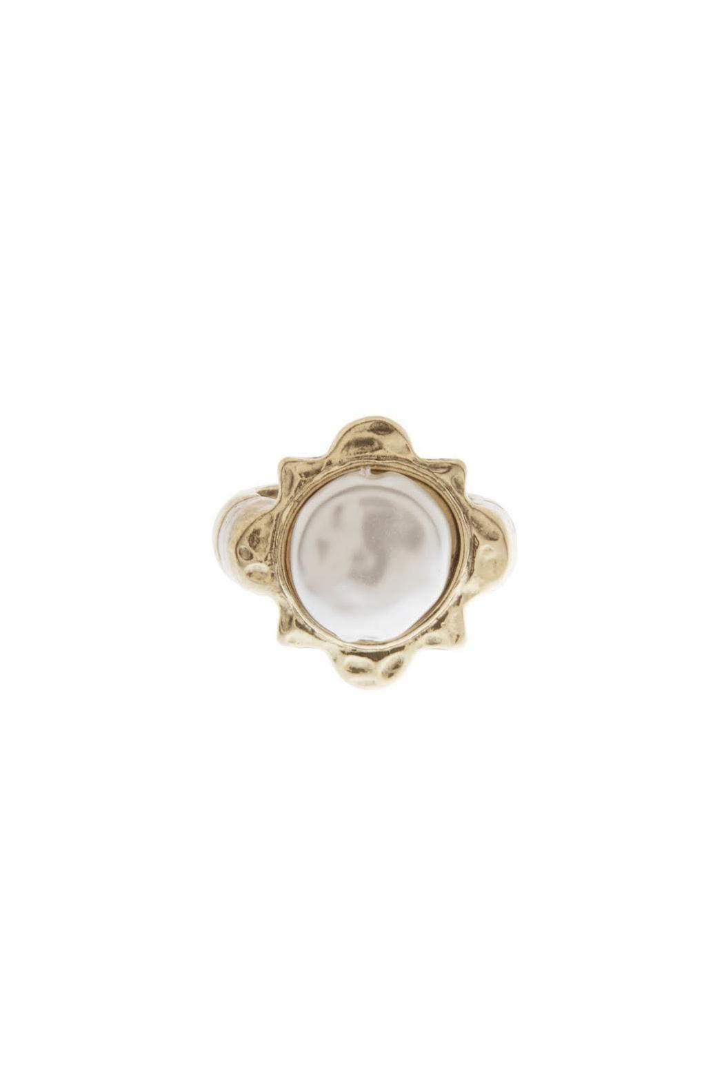 Wild Lilies Jewelry  Pearl Sunburst Ring - Front Cropped Image