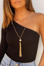 Wild Lilies Jewelry  Pearl Tassel Necklace - Product Mini Image