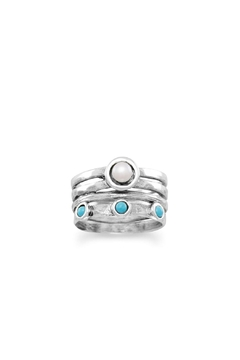 Wild Lilies Jewelry  Pearl Turquoise Ring - Product List Image