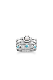 Wild Lilies Jewelry  Pearl Turquoise Ring - Product Mini Image