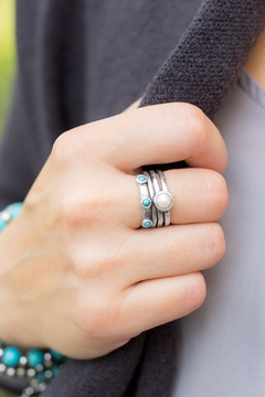 Wild Lilies Jewelry  Pearl Turquoise Ring - Alternate List Image