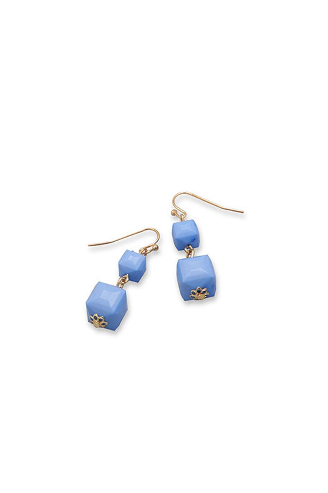 Wild Lilies Jewelry  Periwinkle Cube Earrings - Main Image