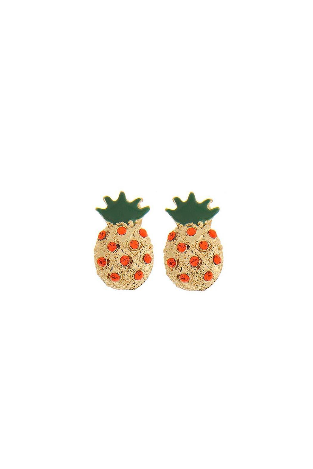 stud gold jewelry bill metallic gallery product lyst pineapple in earrings pretty skinner normal