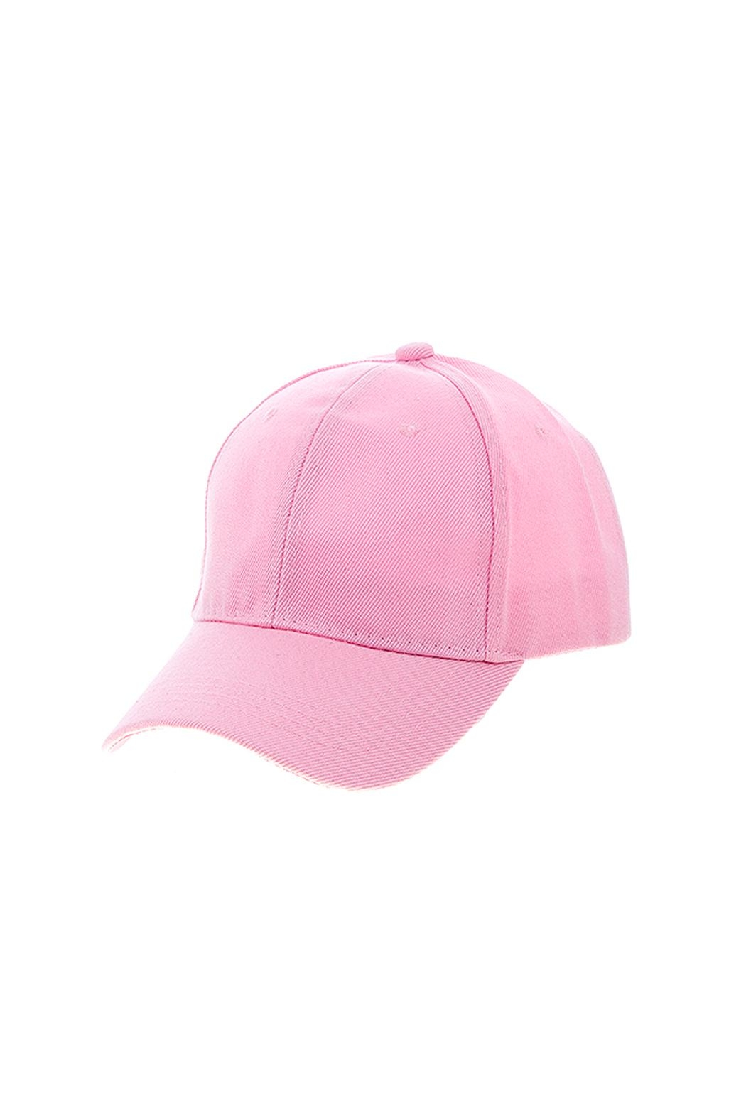 Wild Lilies Jewelry  Pink Baseball Cap - Front Cropped Image