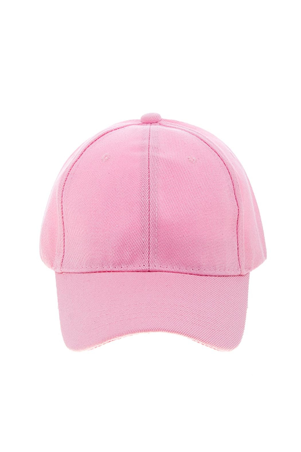 Wild Lilies Jewelry  Pink Baseball Cap - Side Cropped Image