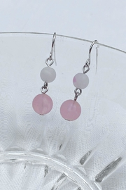 Wild Lilies Jewelry  Pink Beaded Earrings - Product Mini Image