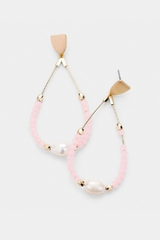 Wild Lilies Jewelry  Pink Pearl Earrings - Front cropped