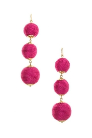 Wild Lilies Jewelry  Pink Pom Earrings - Front cropped