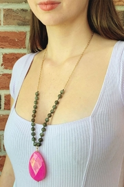 Wild Lilies Jewelry  Pink Quartz Necklace - Front cropped
