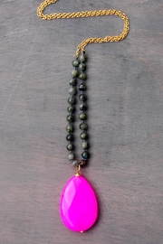 Wild Lilies Jewelry  Pink Quartz Necklace - Front full body