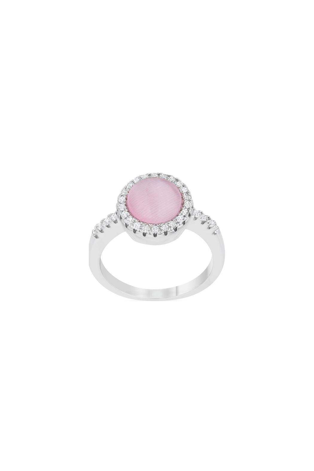 Wild Lilies Jewelry  Pink Stone Ring - Front Full Image
