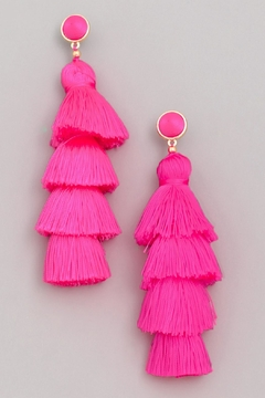 Wild Lilies Jewelry  Pink Tassel Earrings - Alternate List Image