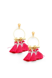 Wild Lilies Jewelry  Pink Tassel Hoops - Product Mini Image