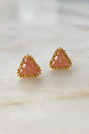 Wild Lilies Jewelry  Pink Triangle Studs - Product Mini Image