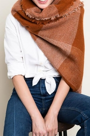 Wild Lilies Jewelry  Plaid Blanket Scarf - Front cropped