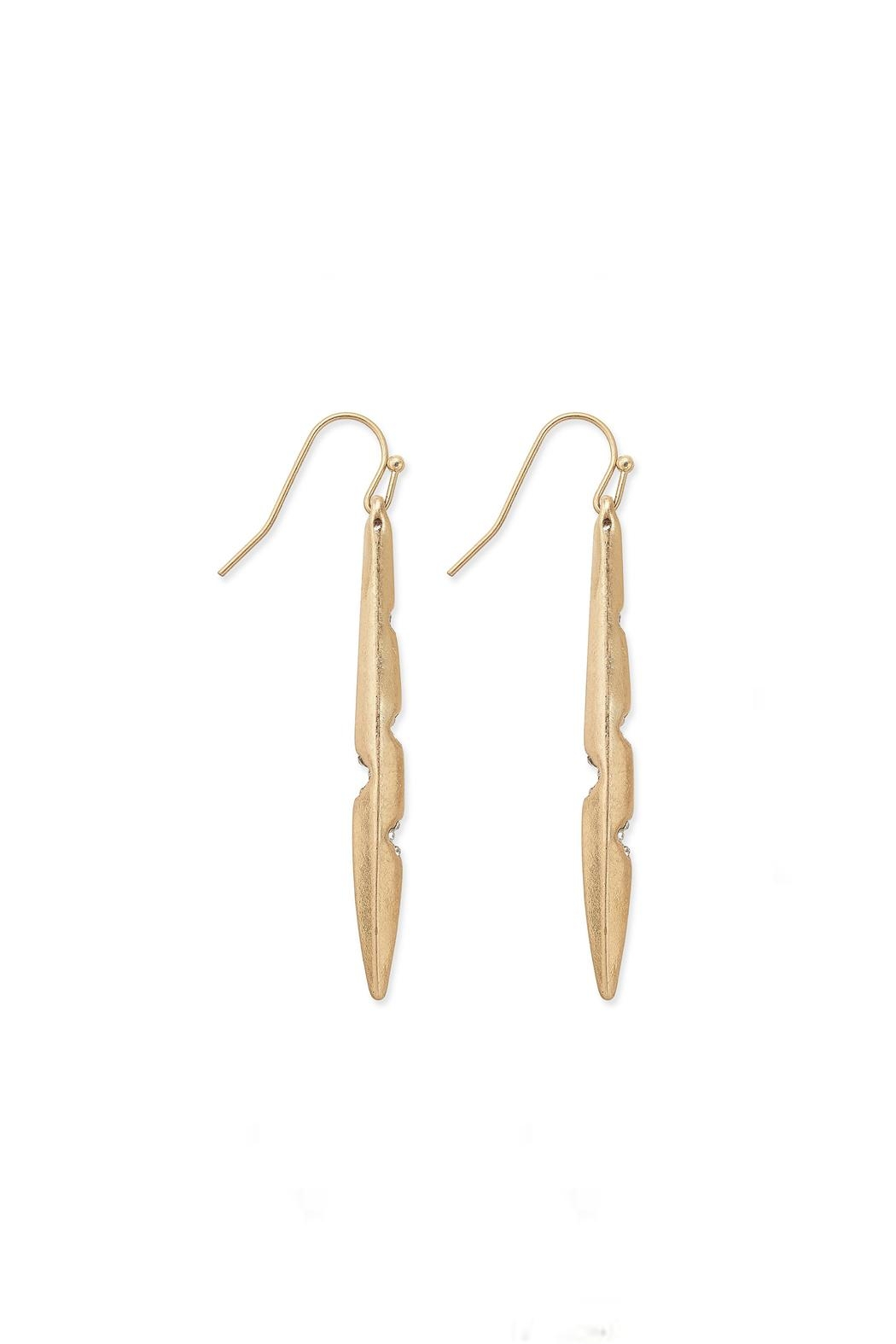 Wild Lilies Jewelry  Pointed Bar Earrings - Front Full Image