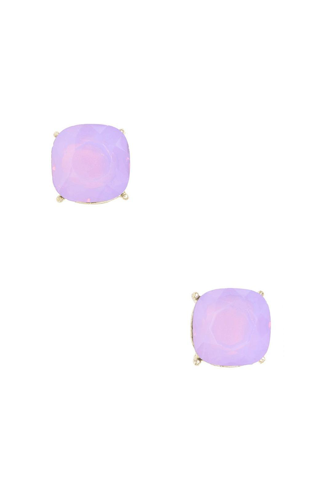 Wild Lilies Jewelry  Purple Stud Earrings - Front Cropped Image