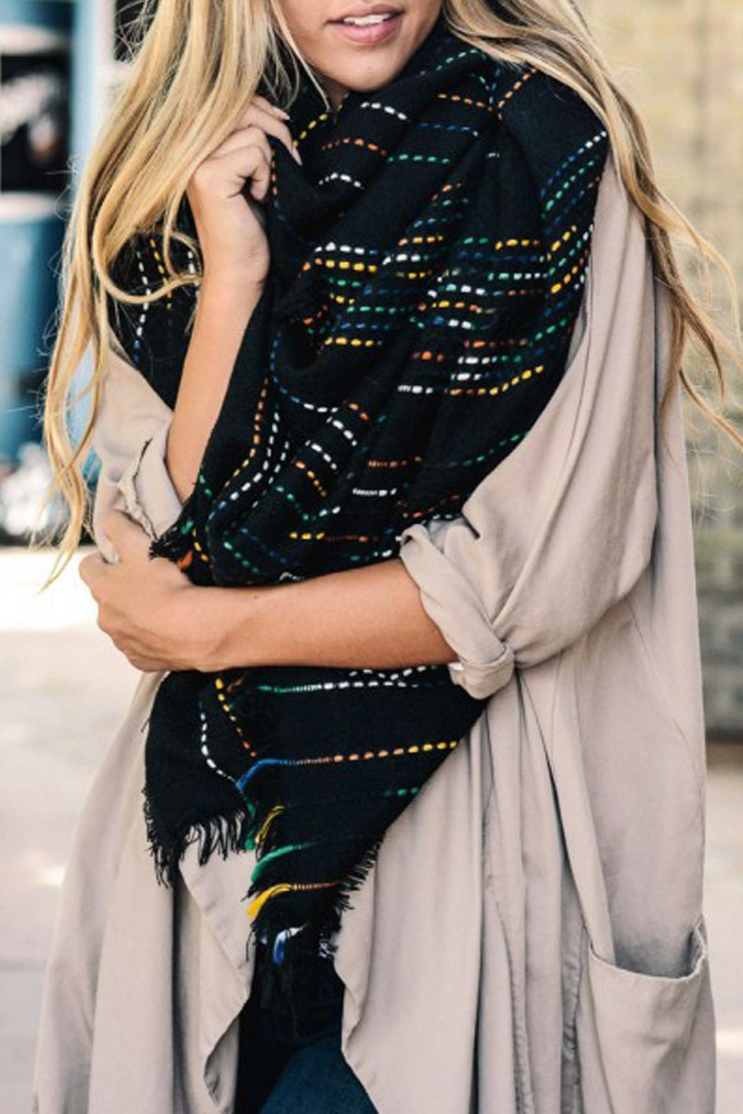Wild Lilies Jewelry  Rainbow Blanket Scarf - Front Cropped Image