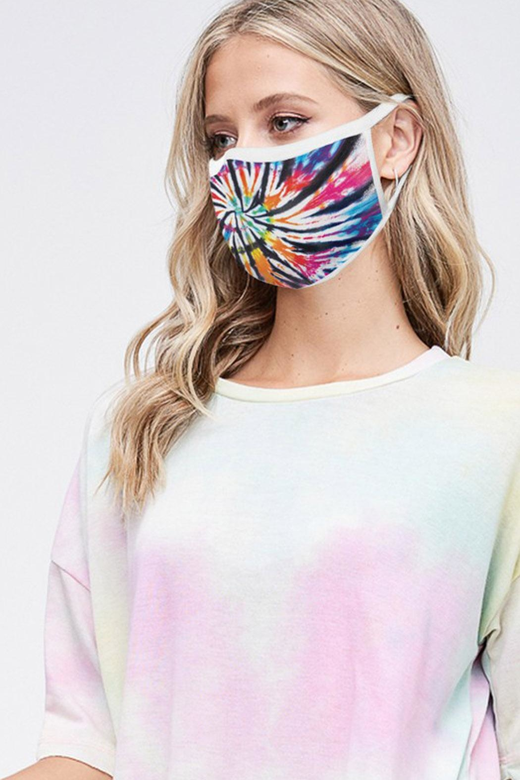 Wild Lilies Jewelry  Rainbow Face Mask - Front Full Image