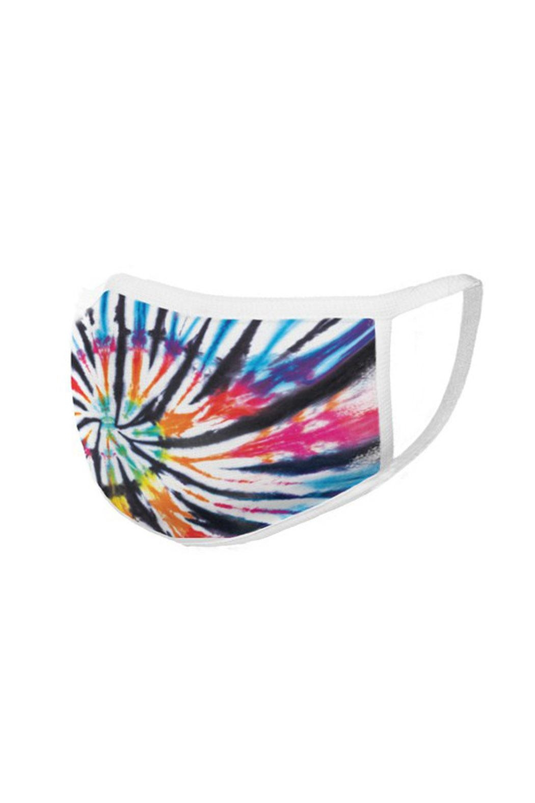 Wild Lilies Jewelry  Rainbow Face Mask - Back Cropped Image